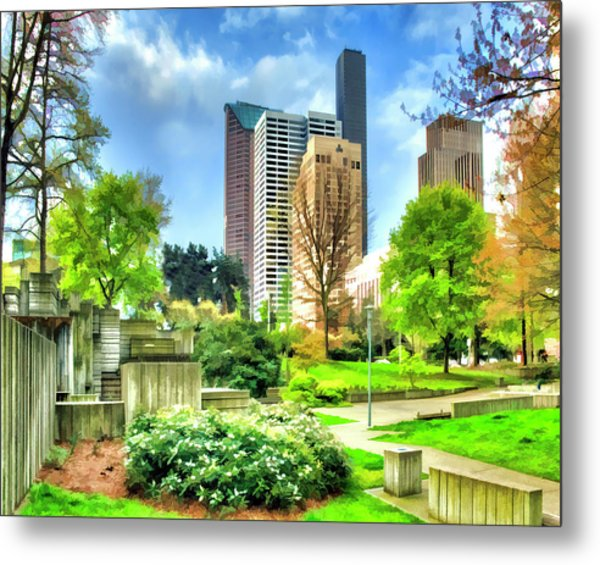 Seattle Spring Fine Art Print Metal Print
