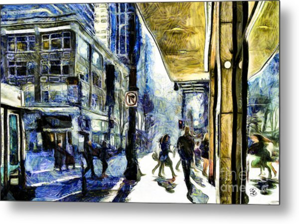 Metal Print featuring the photograph Seattle Streets #2 by Susan Parish