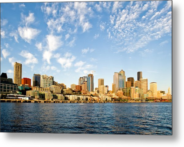 Seattle The Emerald City Metal Print by Tom Dowd