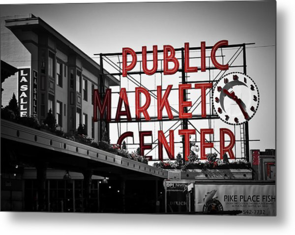Seattle Time Metal Print