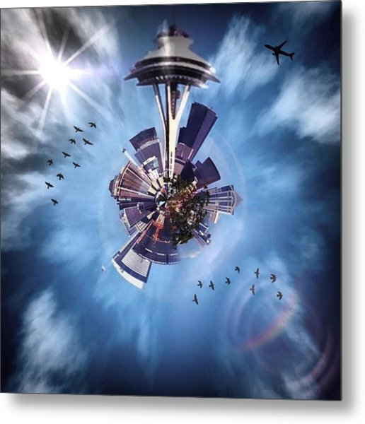 Seattle #tinyworld #spaceneedle Metal Print