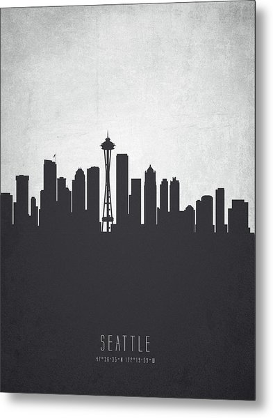 Seattle Washington Cityscape 19 Metal Print