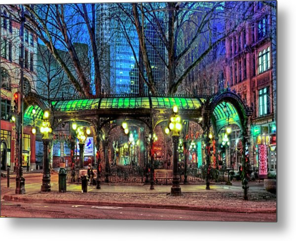 Seattle's Iron Pergola Metal Print
