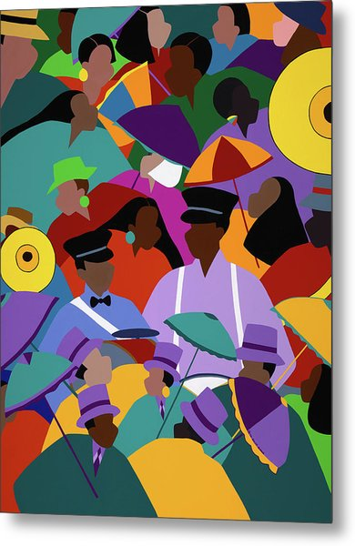 Second Line New Orleans Metal Print
