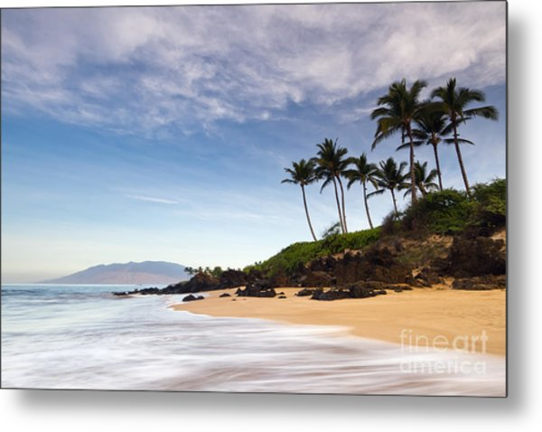Secret Beach Maui Sunrise Metal Print