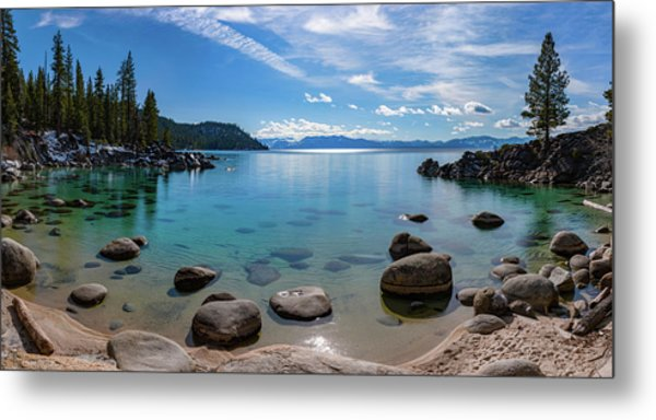 Secret Cove Aquas By Brad Scott Metal Print