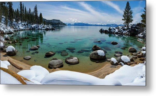 Secret Cove Winter Panorama By Brad Scott Metal Print