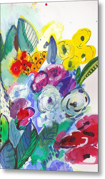 Secret Garden With Wild Flowers Metal Print
