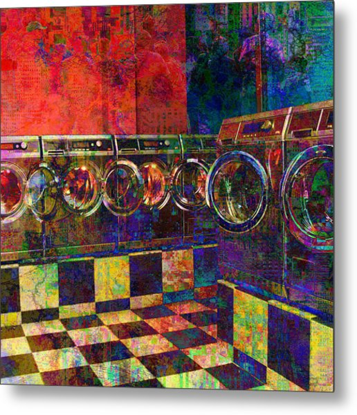 Secret Life Of Laundromats Metal Print