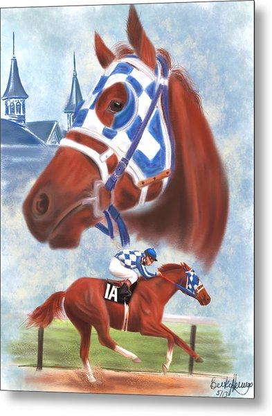 Secretariat Racehorse Portrait Metal Print