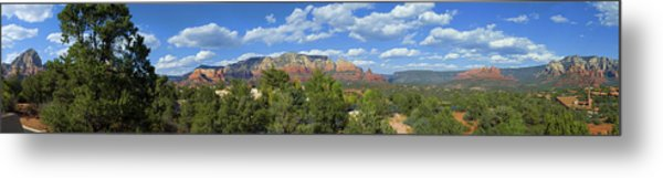 Sedona Panoramic Metal Print