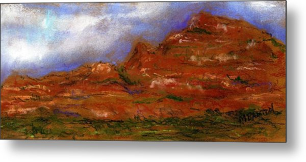 Sedona Storm Clouds Metal Print by Marilyn Barton