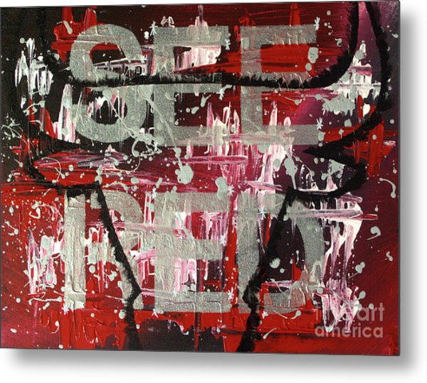 See Red Chicago Bulls Metal Print