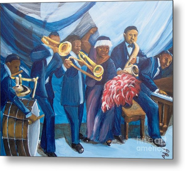 Metal Print featuring the painting See The Music by Saundra Johnson