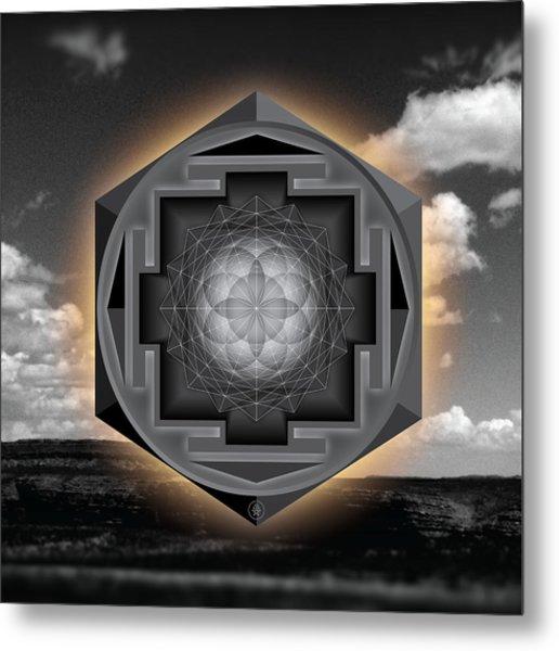 Seed Of Life Desert Mandala Metal Print