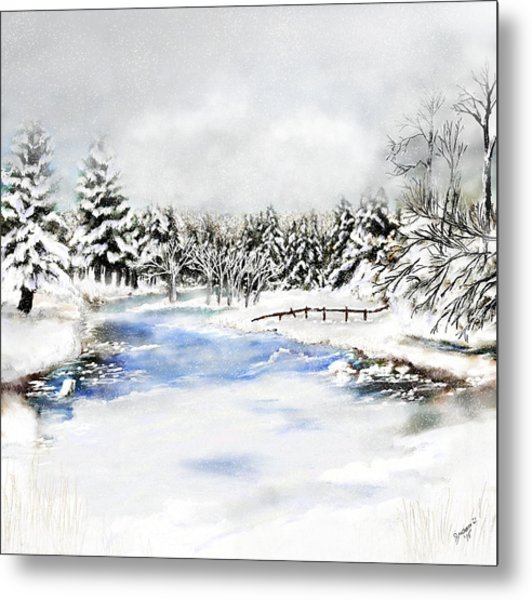Seeley Montana Winter Metal Print