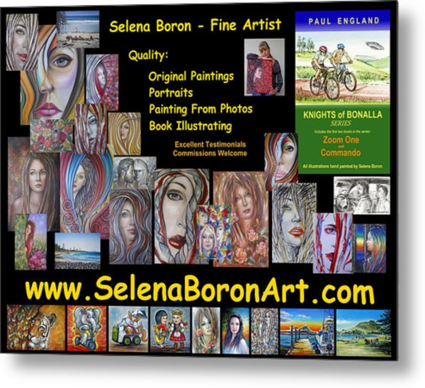 Selena Boron Photo Card 1 Metal Print
