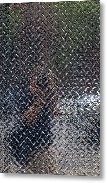 Self Portrait In Steel Metal Print