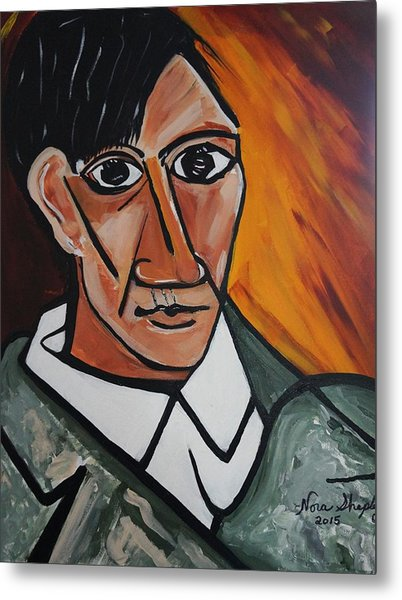 Self Portrait Of Picasso Metal Print