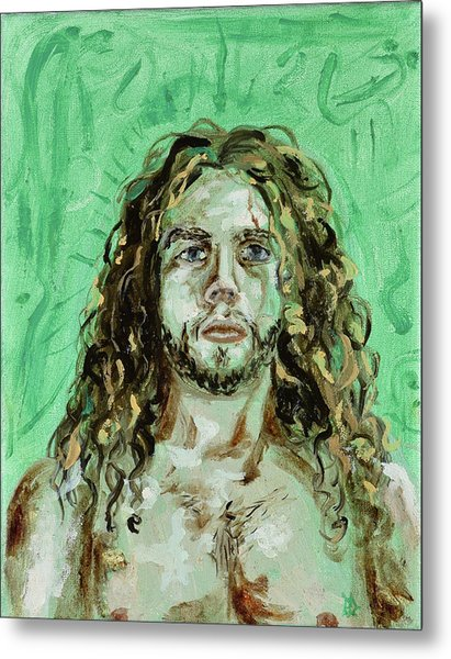 Self Portrait -with Emerald Green And Mummy Brown- Metal Print
