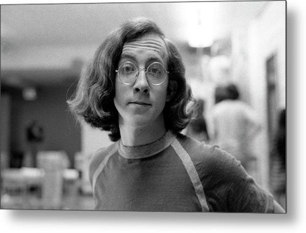Self-portrait, With Raised Eyebrow, 1972, Number 2 Metal Print