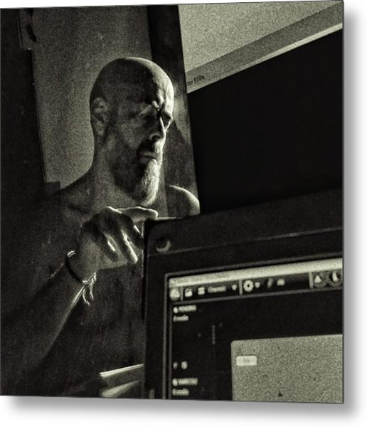 Selfportrait With Screens #selfie Metal Print