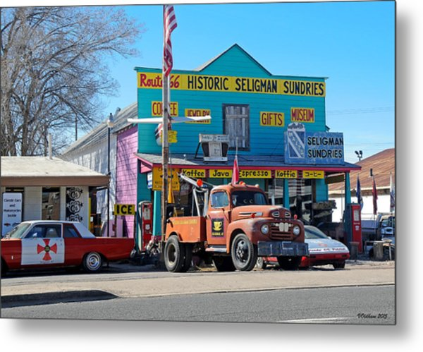 Seligman Sundries On Historic Route 66 Metal Print