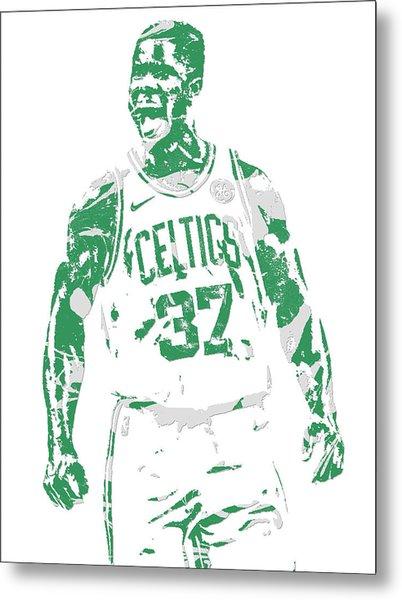 Semi Ojeleye Boston Celtics Pixel Art 1 Metal Print