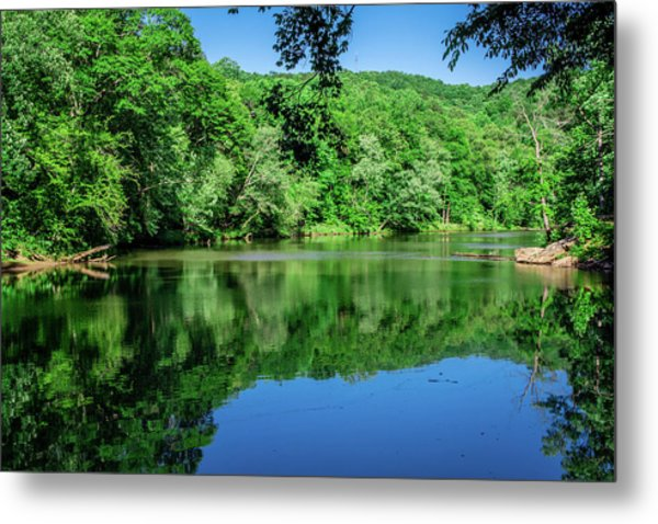 Semi Placid Stream Metal Print