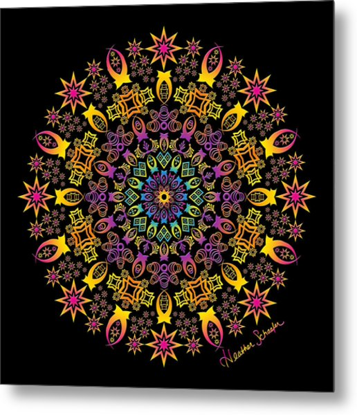 Semi-tribal Rotation Metal Print