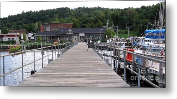 Seneca Lake Pier Watkins Glen New York Metal Print