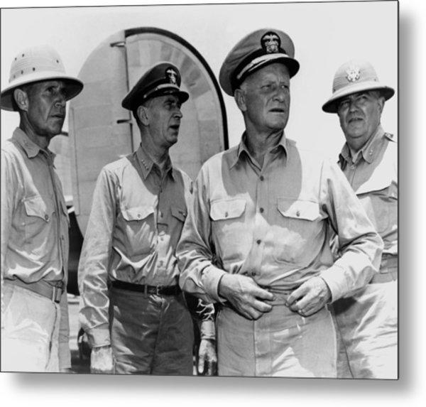 Senior Naval Officers Ww2 - Nimitz, King, Etc. Metal Print