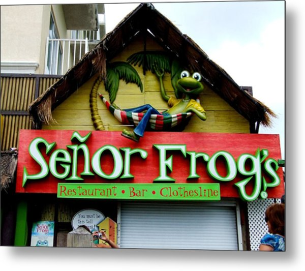 Senor Frogs Metal Print