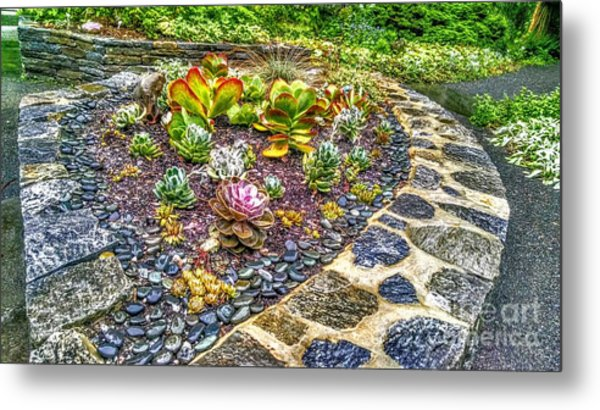 Sensory Garden At Laurelwood Arboretum Metal Print
