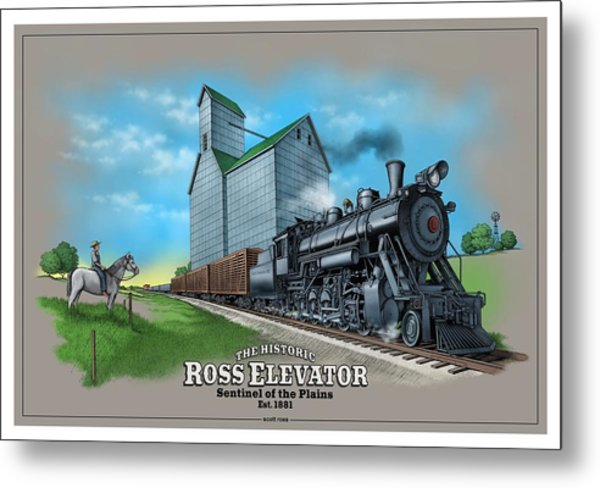 The Ross Elevator Sentinel Of The Plains Metal Print