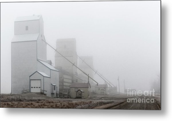 Sentinels In The Fog Metal Print