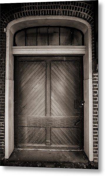 Sepia Doorway Metal Print
