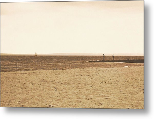 Sepia Sands Metal Print by JAMART Photography