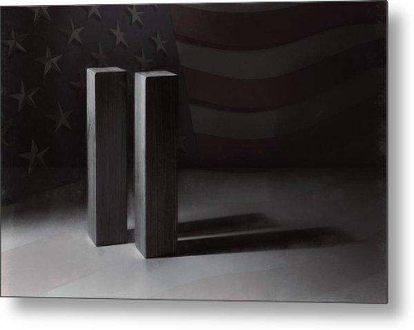 September 11, 2001 -  Never Forget Metal Print