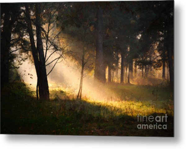 Metal Print featuring the painting September Impressions by Rosario Piazza
