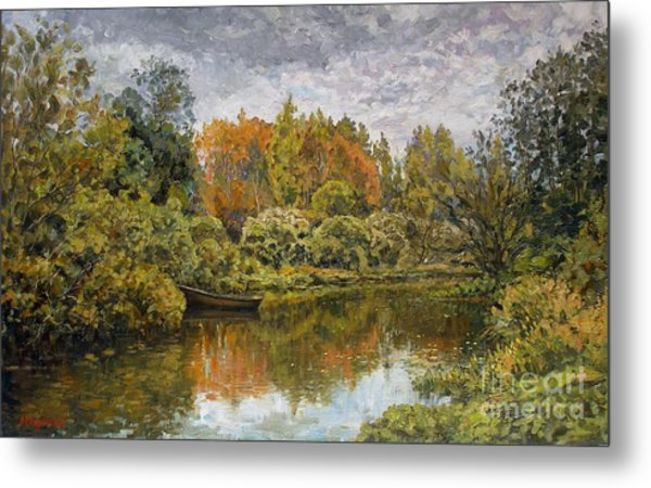 September. On The River Metal Print by Andrey Soldatenko