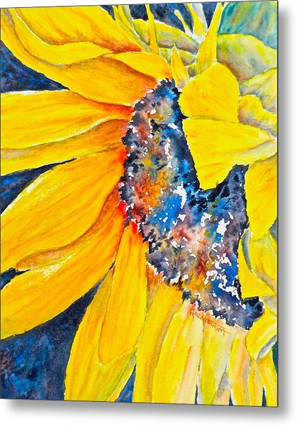 September Sunflower Metal Print