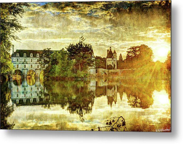 September Sunset In Chenonceau - Vintage Version Metal Print