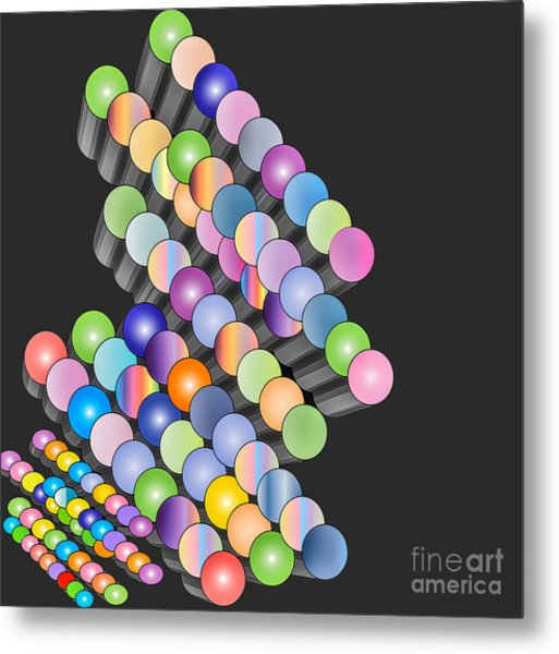 Metal Print featuring the digital art Sequence by Eleni Mac Synodinos