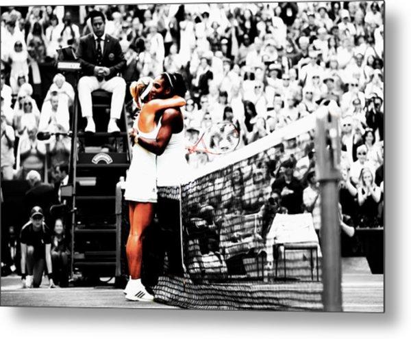Serena Williams And Angelique Kerber 1a Metal Print