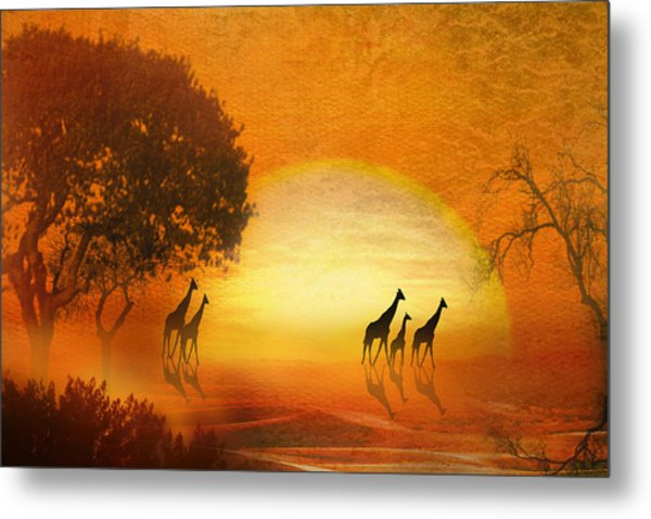 Serenade Of The Serengeti Metal Print