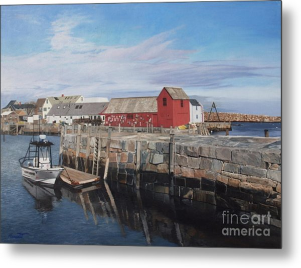 Serene Afternoon At Rockport Harbor    Metal Print