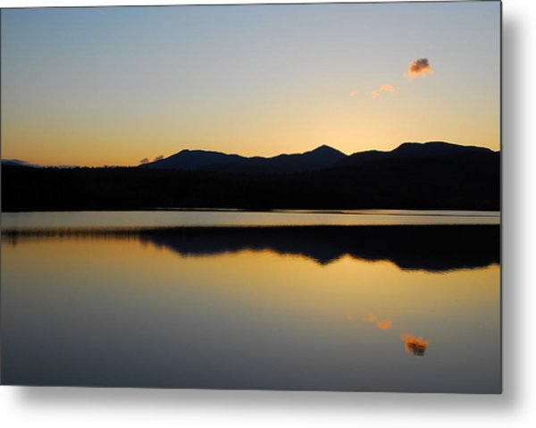 Serenity At Blue Lake Metal Print
