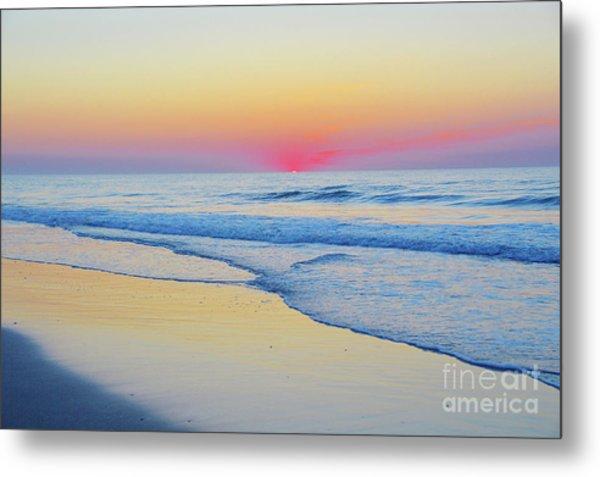 Serenity Beach Sunrise Metal Print
