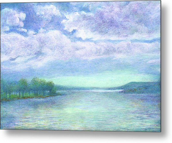 Serenity Blue Lake Metal Print